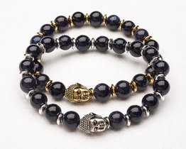 BUDDHA POWER BRACELET - BLUE GOLDSTONE