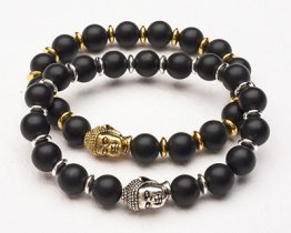 BUDDHA POWER BRACELET -BLACK MATTE