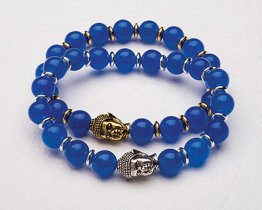 BUDDHA POWER BRACELET - DARK BLUE JADE