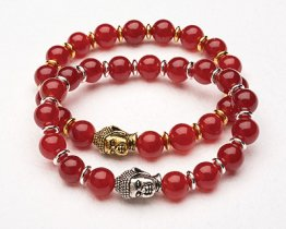 BUDDHA POWER BRACELET - RED JADE