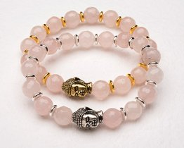 BUDDHA POWER BRACELET - ROSE QUARTZ