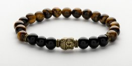 TIGER EYE BUDDHA MEN'S BRACELET
