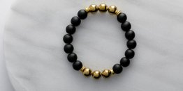 10MM BLACK MATTE GOLD BALLS