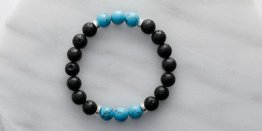 10MM LAVA STONE W/ TURQUOISE