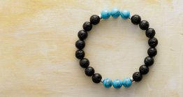 8MM LAVA STONE - TURQUOISE
